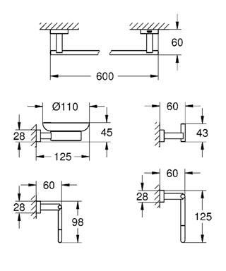 Набор аксессуаров Grohe 40758001 от 220 Вольт