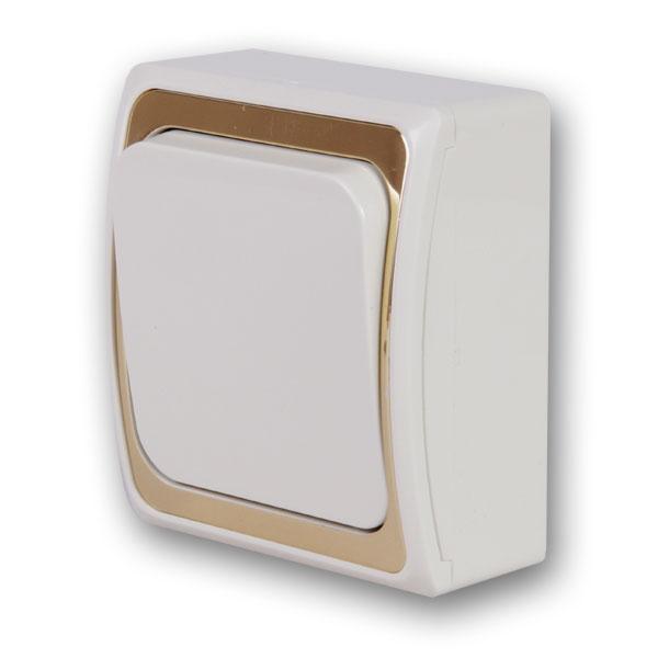 Выключатель Duewi 26343 2 выключатель двухклавишный наружный бежевый 10а quteo