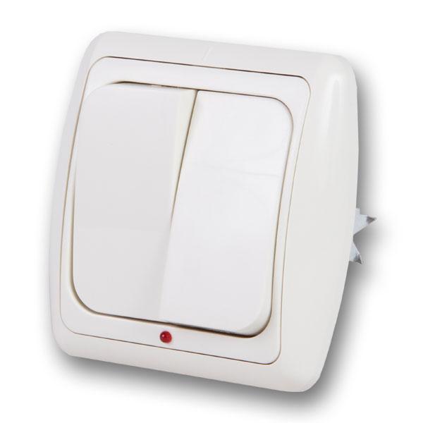 Выключатель Duewi 26213 8 выключатель двухклавишный наружный бежевый 10а quteo