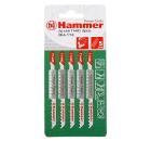 Пилки для лобзика HAMMER JG WD-PL T144D (5шт.)