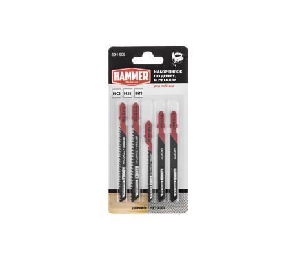 Пилки для лобзика HAMMER JG WD-PL-MT set No6 (5pcs)