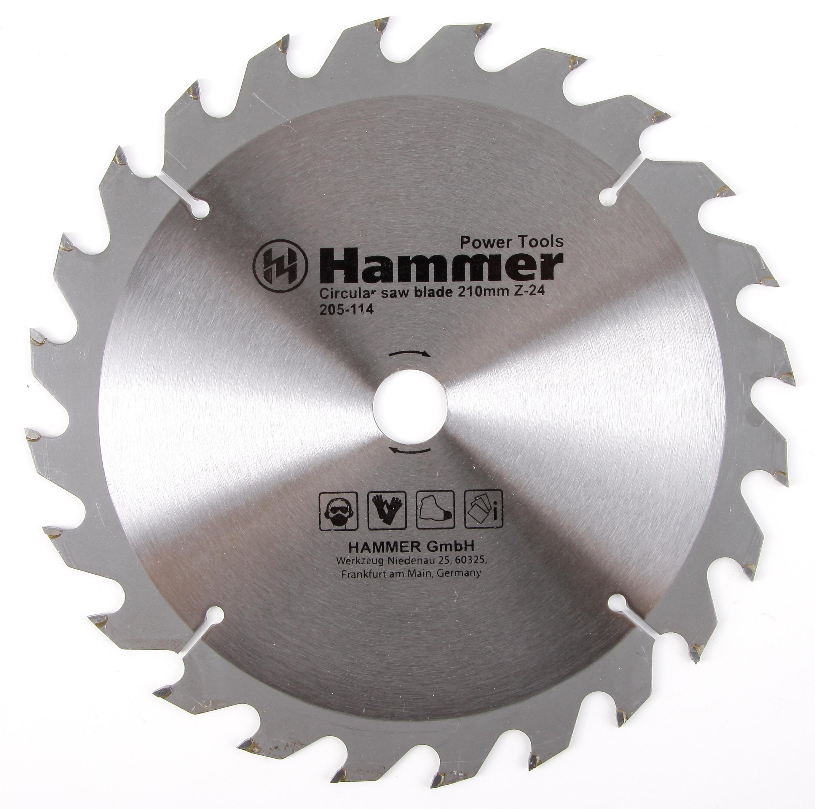 Диск пильный твердосплавный Hammer 210х20/16мм 24 зуб. диск пильный твердосплавный hammer 335х32 30мм 64 зуб