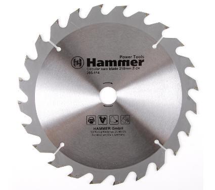 Диск пильный твердосплавный HAMMER Ф210х20мм 24зуб.