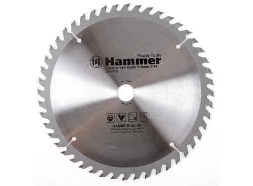 Диск пильный твердосплавный HAMMER Ф210х20мм 48зуб.