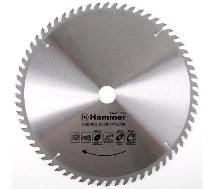 Диск пильный твердосплавный HAMMER Ф335х32мм 64зуб.