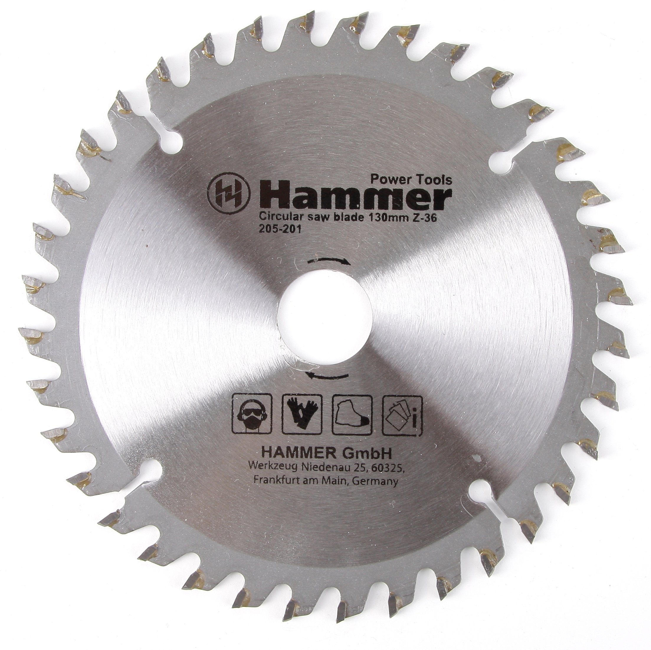 Диск пильный твердосплавный Hammer 205-201 130х20/16мм 36 зуб. диск тв сп практика 130х20 16 z 48 t 1 8 mm ламинат 775 259