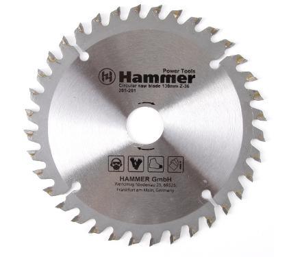 Диск пильный твердосплавный HAMMER Ф130х20мм 36зуб. (205-201)