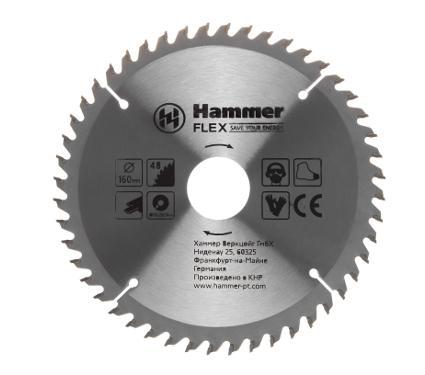 Диск пильный твердосплавный HAMMER Ф160х20мм 48зуб.