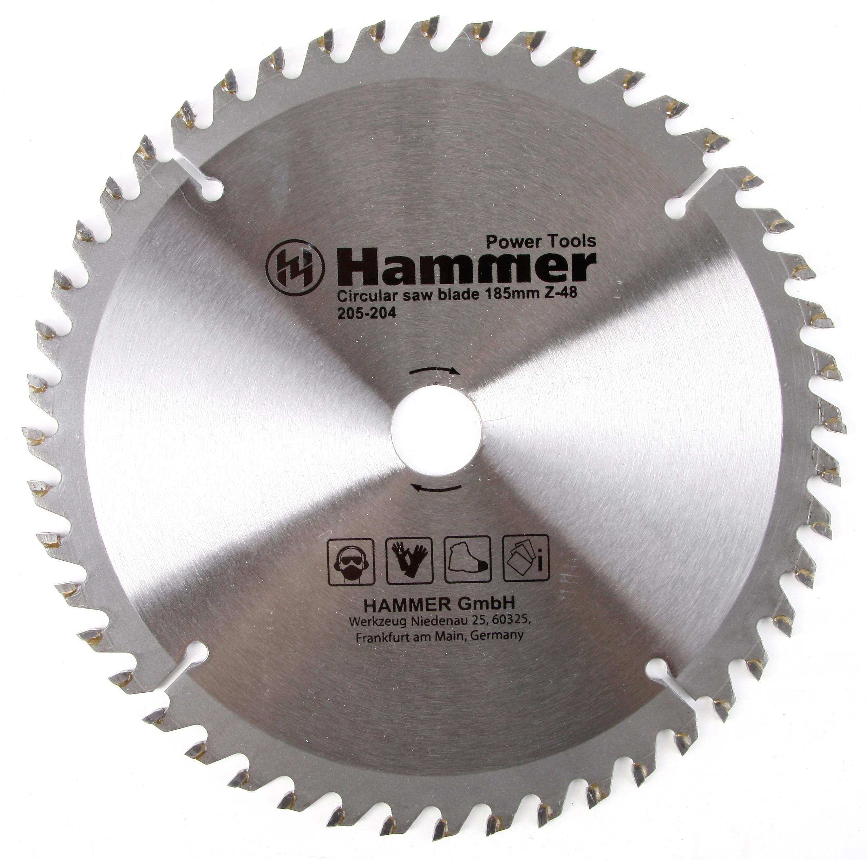 Диск пильный твердосплавный Hammer 185х20/16мм 48 зуб. диск пильный твердосплавный hammer 335х32 30мм 64 зуб