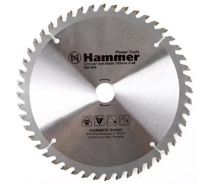 Диск пильный твердосплавный HAMMER Ф185х20мм 48зуб.