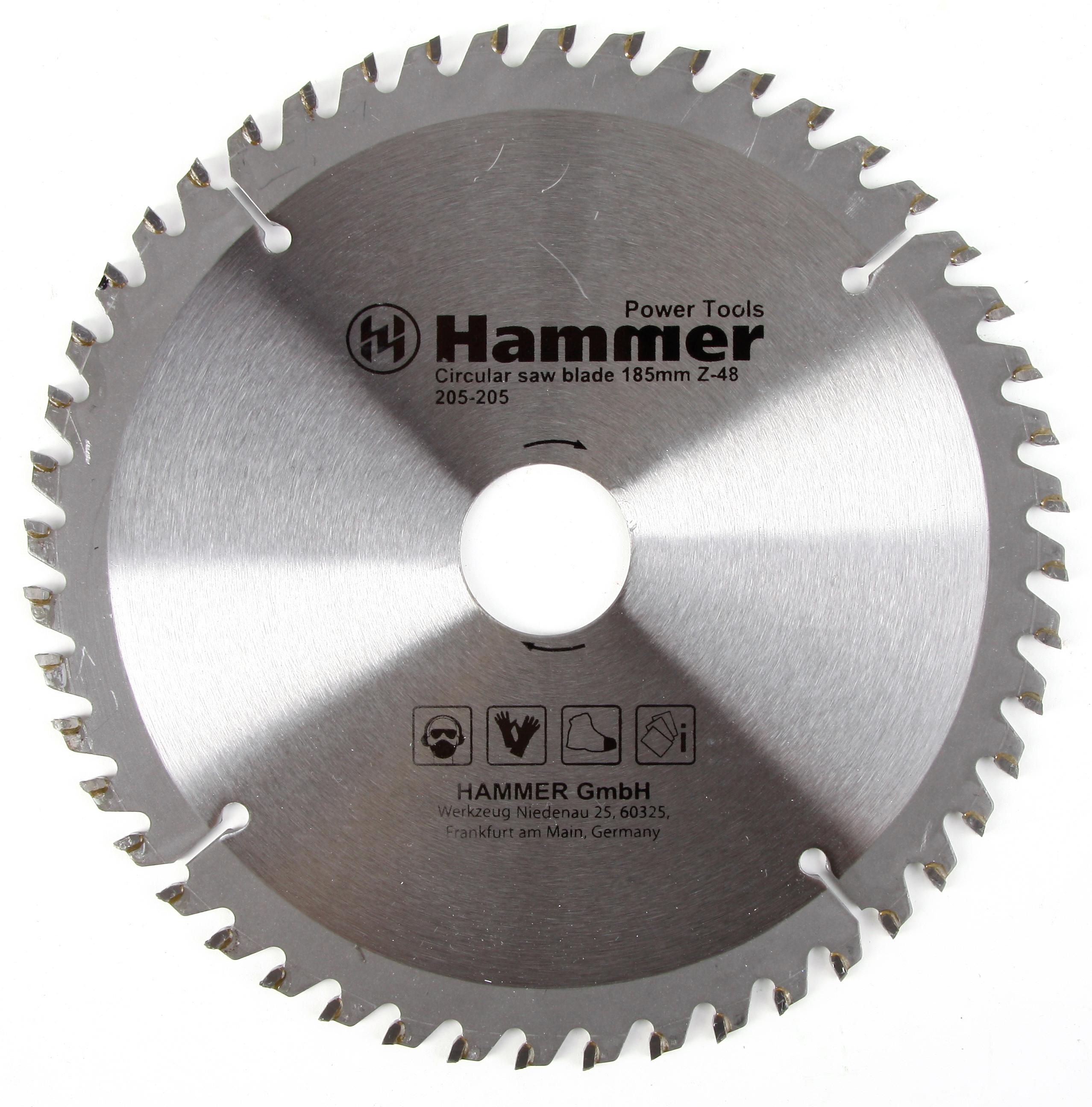 Диск пильный твердосплавный Hammer 185х30/20мм 48 зуб. диск пильный твердосплавный hammer 335х32 30мм 64 зуб