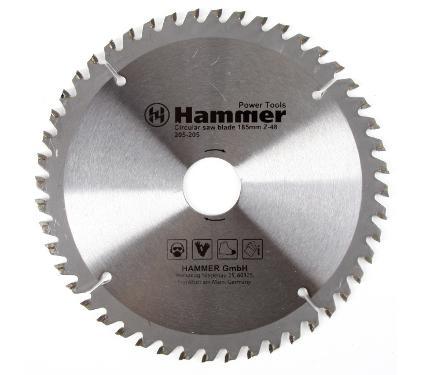 Диск пильный твердосплавный HAMMER Ф185х30мм 48зуб.