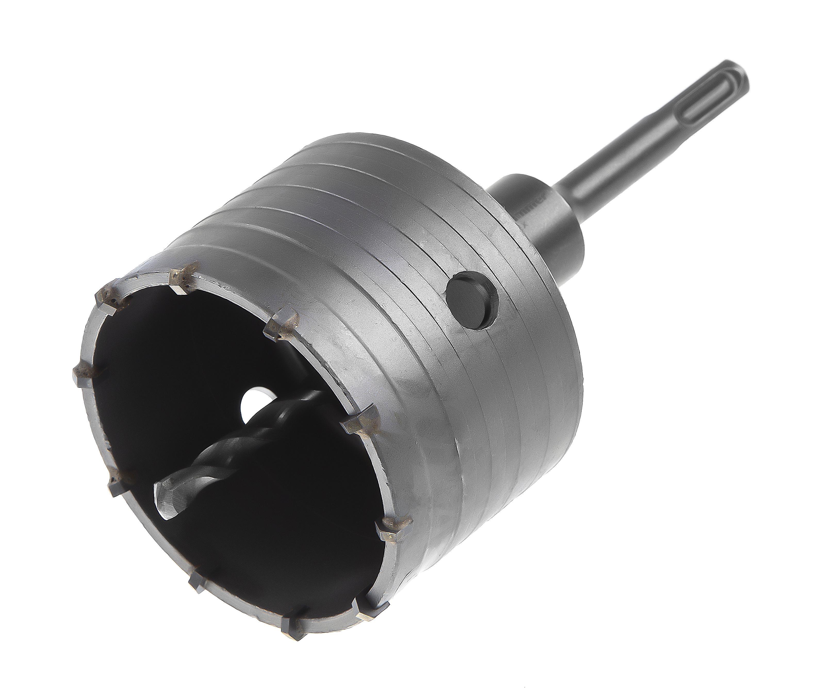 Коронка твердосплавная Hammer Ф82мм sds+ (dc hd 82mm ТВС + переходник sds+)