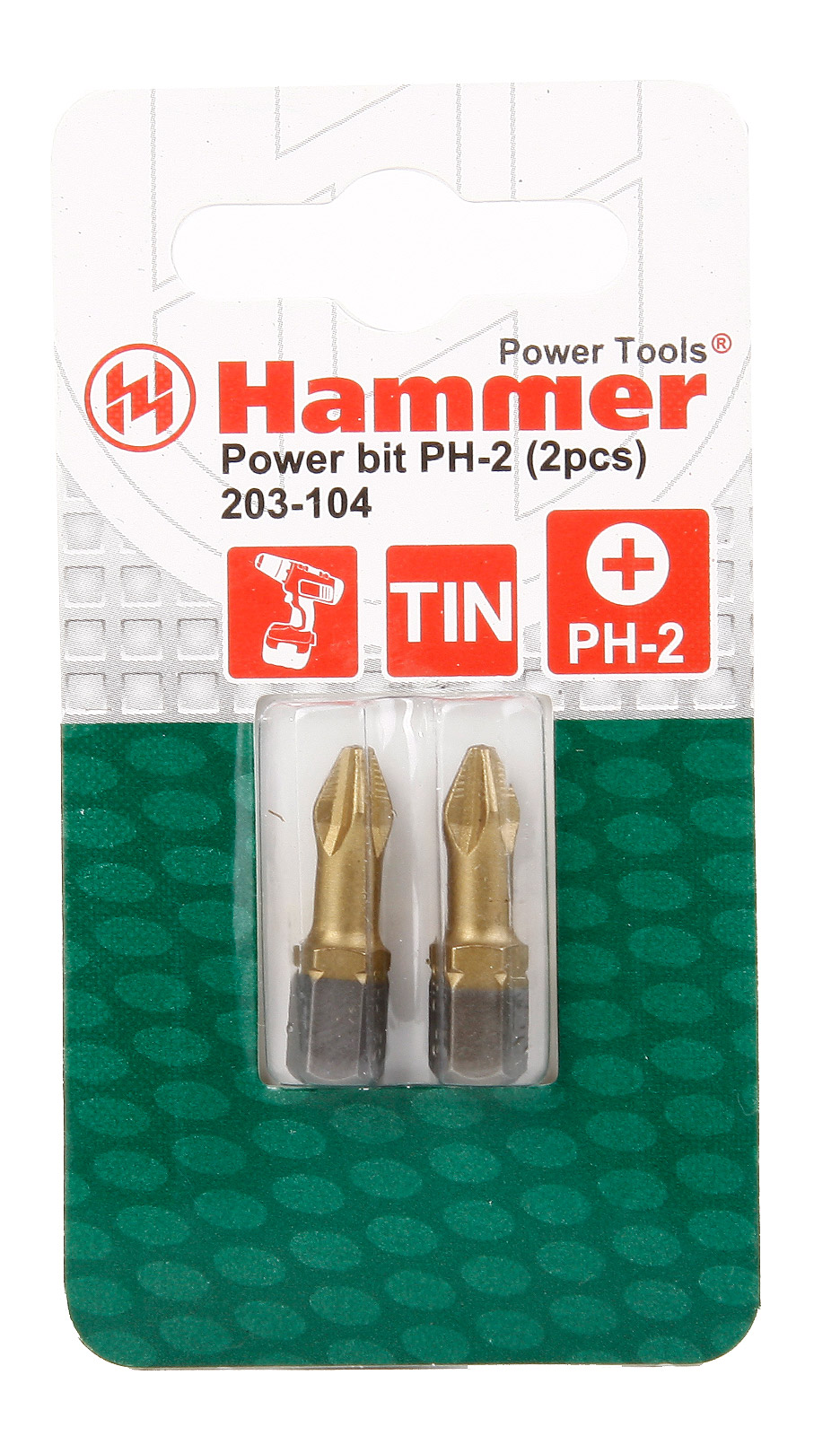 Бита Hammer Pb ph-2 25мм (2шт.)