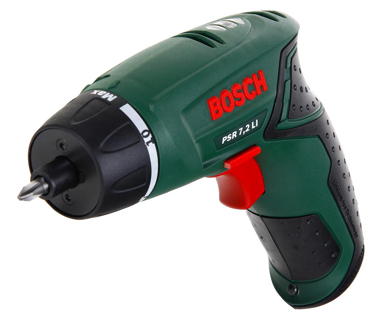 Отвертка аккумуляторная Bosch Psr 7,2 li (0.603.957.720) аккумуляторная сабельная ножовка bosch gsa 10 8v li 0 601 64l 902