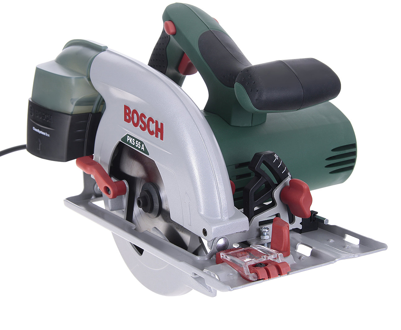 Пила циркулярная Bosch Pks 55 a (0.603.501.020) аккумуляторная дисковая пила bosch pks 18 li 2 5ah x1 06033b1302