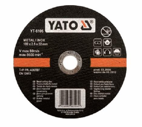 Круг отрезной Yato 125х1.2х22 yt-6103 круг отрезной hammer 115 x 1 2 x 22 по металлу и нерж стали коробка 400шт