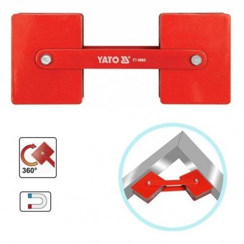 лучшая цена Угольник магнитный Yato Yt-0862