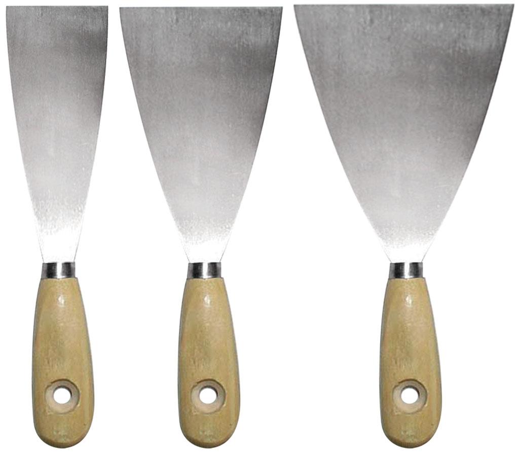 Шпатель Biber 35110 шпатель бибер 35110 набор с деревянной ручкой 30 50 80мм biber 35110 набор с деревянной ручкой 30 50 80мм