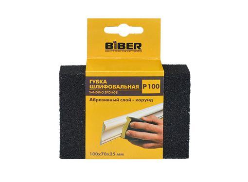 Губка шлифовальная BIBER 100х70х25мм 100Р (70673)