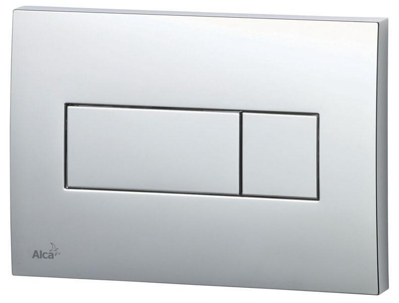 Смывная клавиша Alca plastСистемы инсталляций и смыва<br>Назначение инсталляции: для унитаза,<br>Тип: клавиша,<br>Тип смывной клавиши: двойной смыв,<br>Цвет покрытия: глянцевый хром<br>