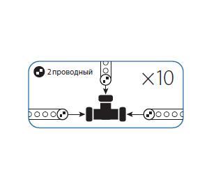 Коннектор КОСМОС Koc-dl-2w13-ct