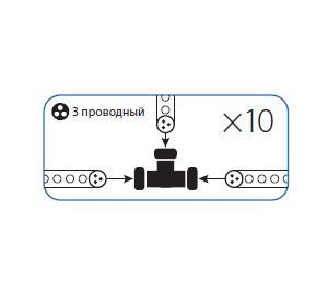 Коннектор КОСМОС Koc-dl-3w13-ct