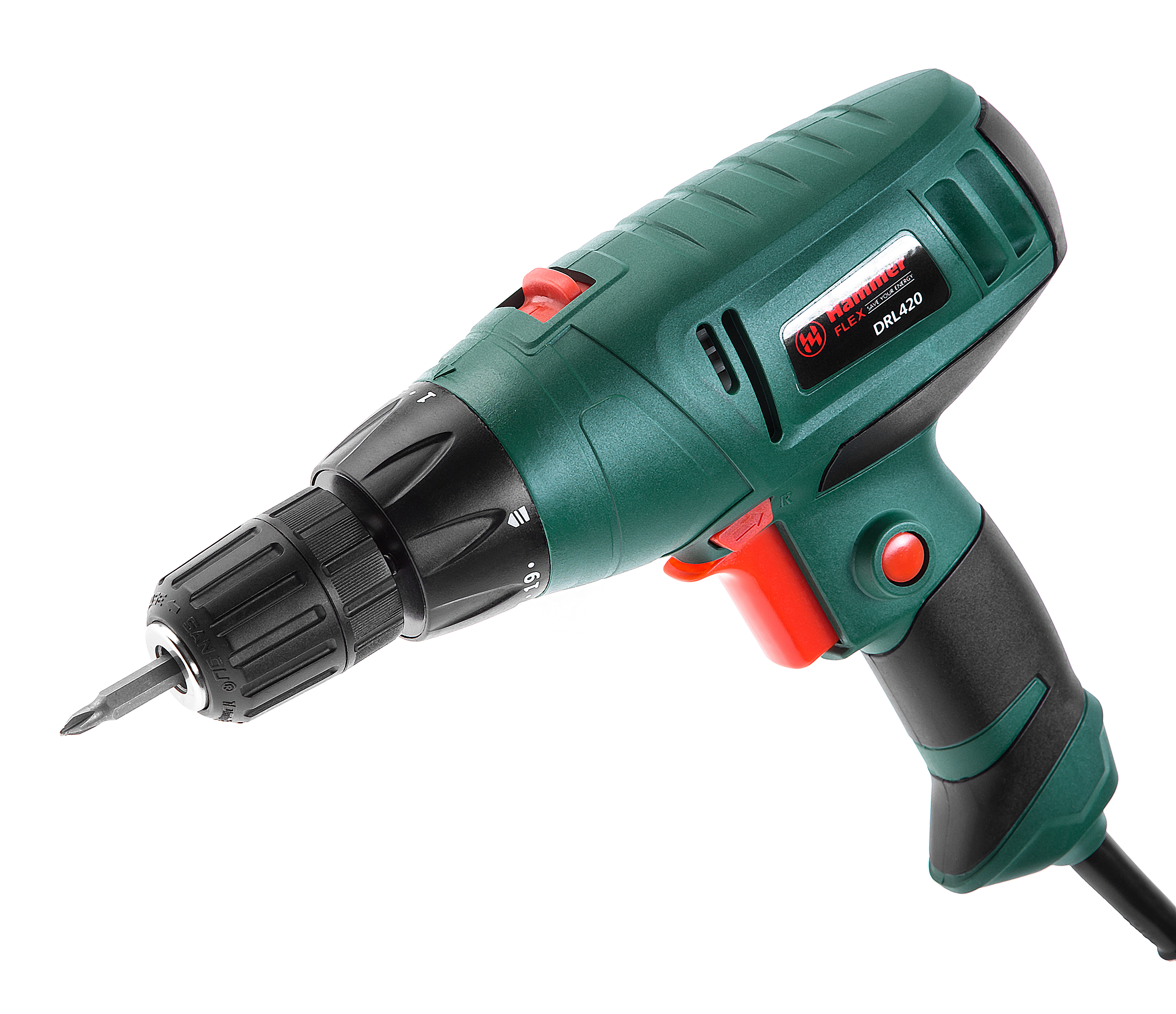Дрель-шуруповерт Hammer Flex drl420 сетевой шуруповерт hammer drl400a