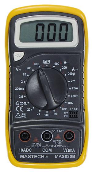 Мультиметр (тестер) цифровой Mastech MAS830L.