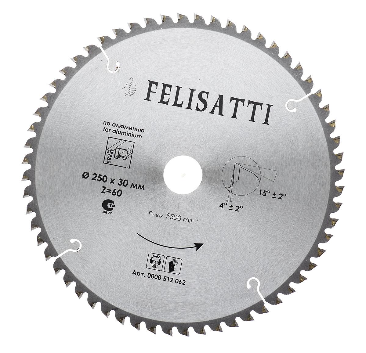 цена на Диск пильный твердосплавный Felisatti 250х2,6х30-60Т