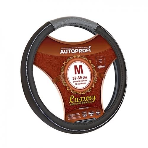 Оплетка Autoprofi Ap-1080 bk/gy (m) автохимия autoprofi шампунь 150805