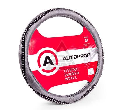 Оплетка AUTOPROFI AP-1414 BK/WH (M)