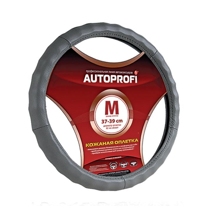 Оплетка Autoprofi Ap-265 d.gy (l) autoprofi оплётка для перетяжки руля autoprofi экокожа с перфорированными вставками нить игла чёрн серы