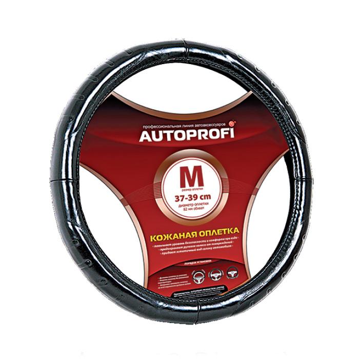 Оплетка Autoprofi Ap-850 bk (m) чехлы на сиденье autoprofi r 1 sport plus black r 902p bk