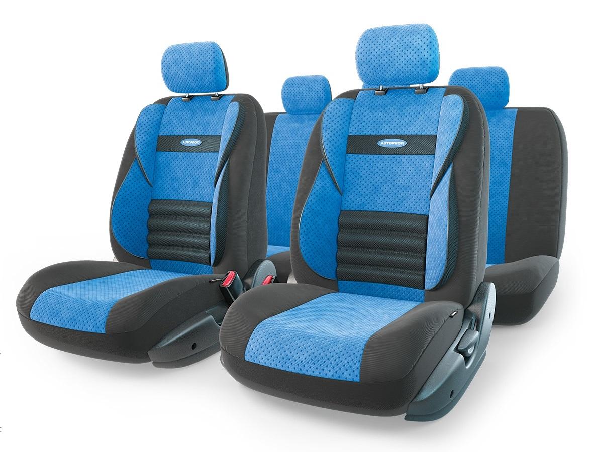 Чехол на сиденье Autoprofi Cmb-1105 bk/bl (М) чехол autoprofi comfort combo black dark grey cmb 1105 bk d gy m