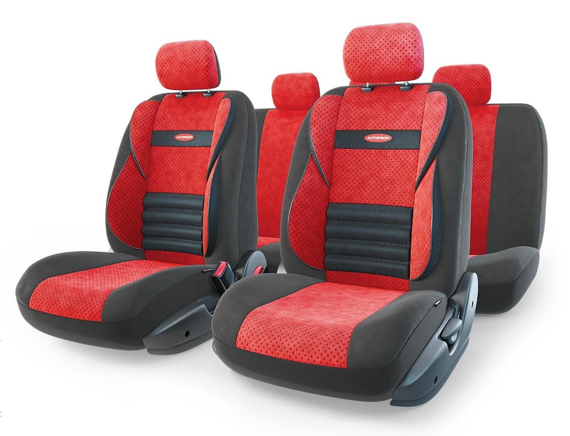 Чехол на сиденье Autoprofi Cmb-1105 bk/rd (М) чехлы на сиденье autoprofi comfort combo black dark grey cmb 1105 bk d gy m