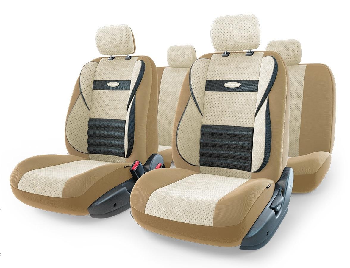 Чехол на сиденье Autoprofi Cmb-1105 d.be/l.be (М) чехлы на сиденье autoprofi comfort combo black dark grey cmb 1105 bk d gy m