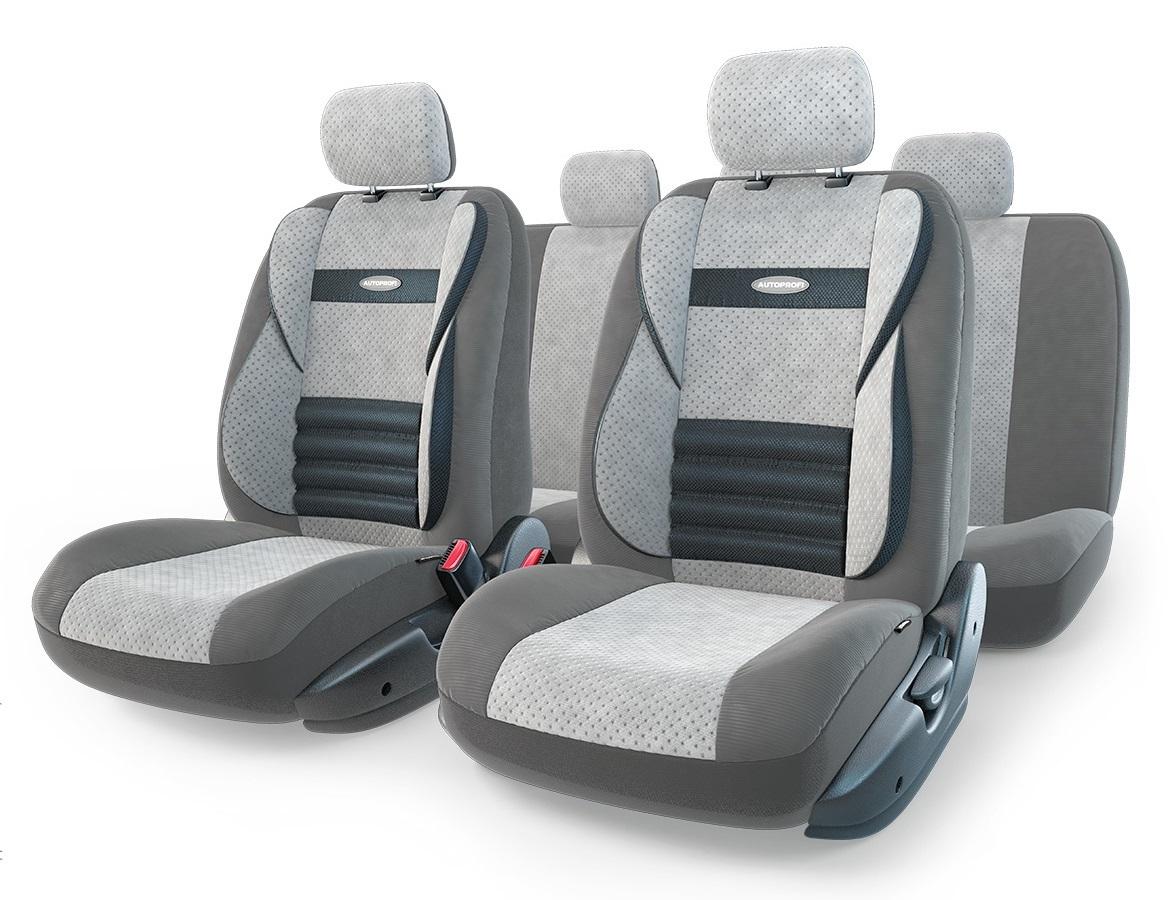 Чехол на сиденье Autoprofi Cmb-1105 d.gy/l.gy (М) чехлы на сиденье autoprofi comfort combo black dark grey cmb 1105 bk d gy m