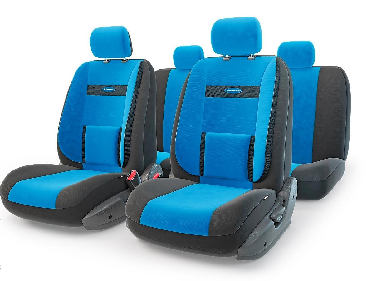 Чехол на сиденье Autoprofi Com-1105 bk/bl (М) чехол на сиденье autoprofi urb 1105 gy m