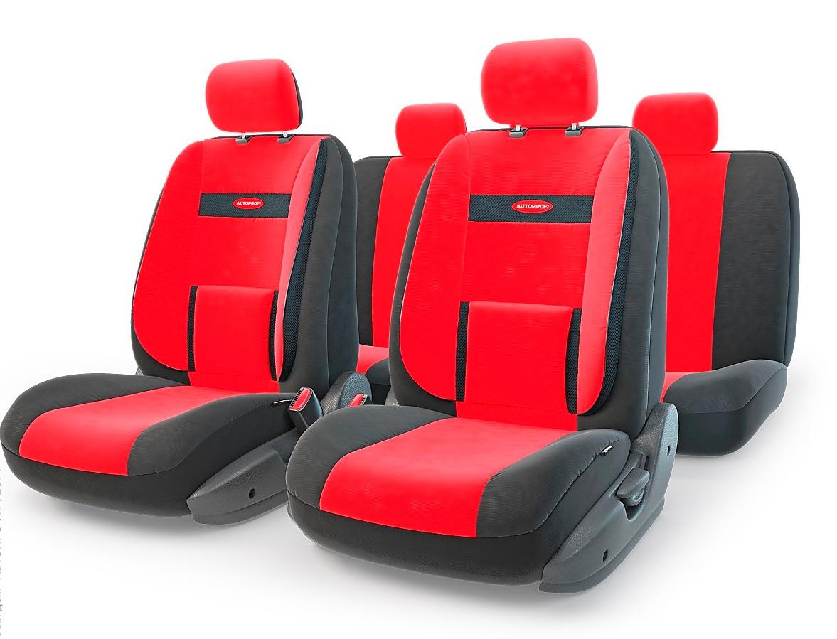 Чехол на сиденье Autoprofi Com-1105 bk/rd (М) чехол на сиденье autoprofi gob 1105 bl romb m