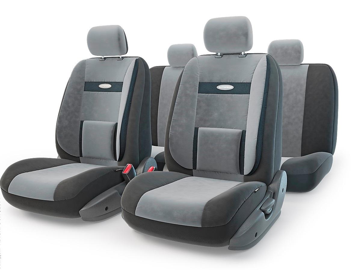 Чехол на сиденье Autoprofi Com-1105 d.gy/l.gy (М) чехол на сиденье autoprofi mtx 1105 bk d gy m