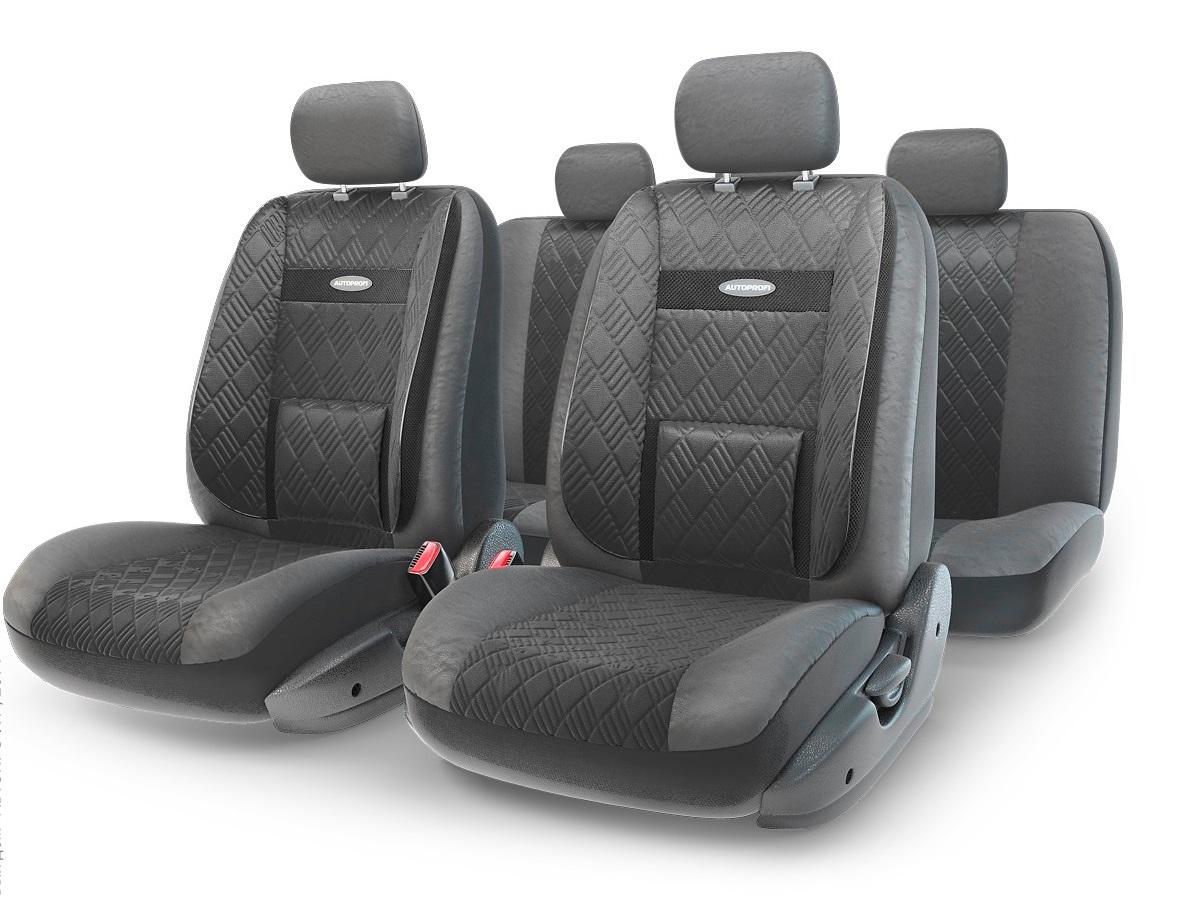 Чехол на сиденье Autoprofi Com-1105gp bk/bk (М) чехол на сиденье autoprofi com 1105 cyclone м