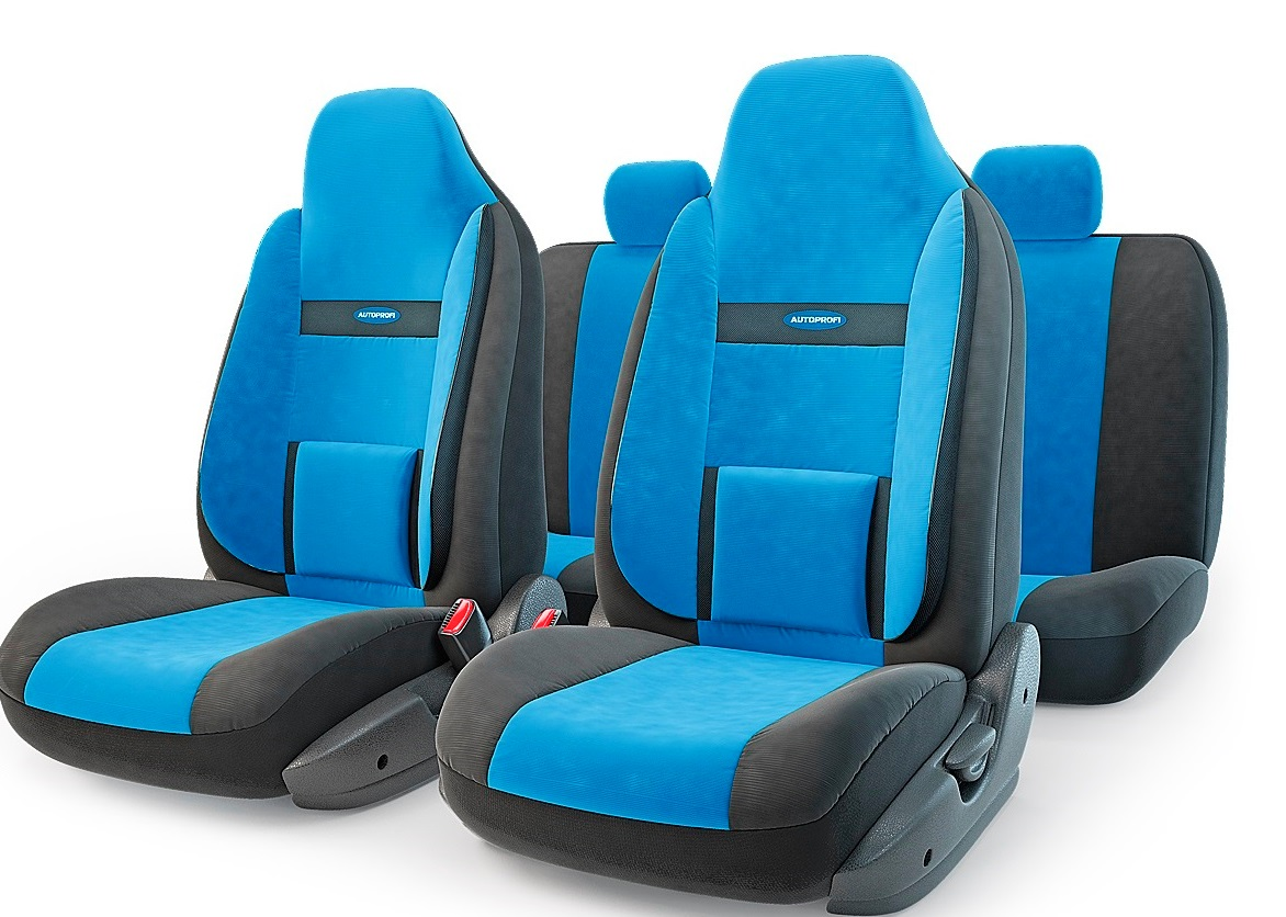 Чехол на сиденье Autoprofi Com-1105h bk/bl (М) чехол autoprofi comfort combo black dark grey cmb 1105 bk d gy m