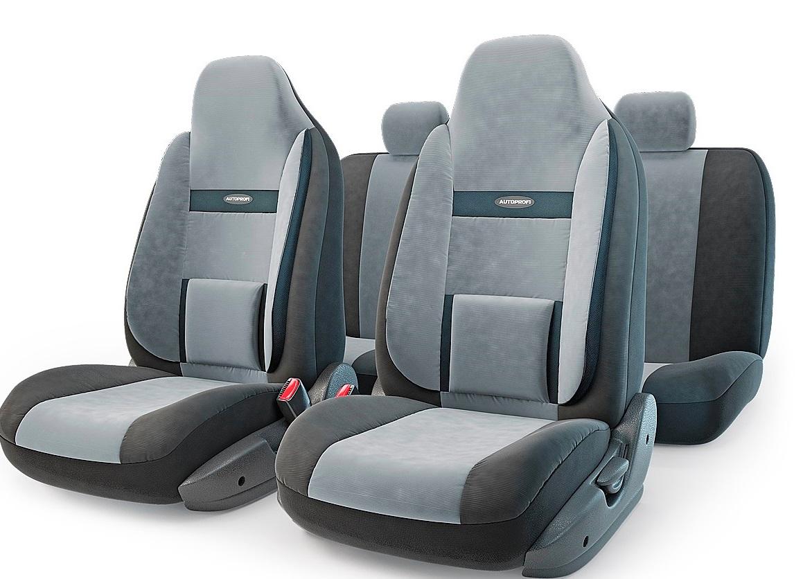 Чехол на сиденье Autoprofi Com-1105h bk/d.gy (М) чехол на сиденье autoprofi com 1105 cyclone м