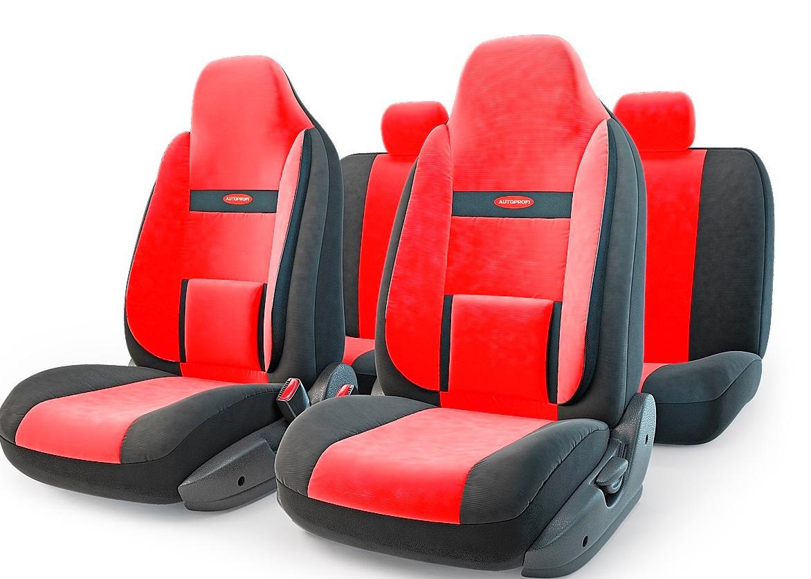 Чехол на сиденье Autoprofi Com-1105h bk/rd (М) авточехлы autoprofi matrix формованный велюр 11 предметов чёрный красный размер м mtx 1105 bk rd m