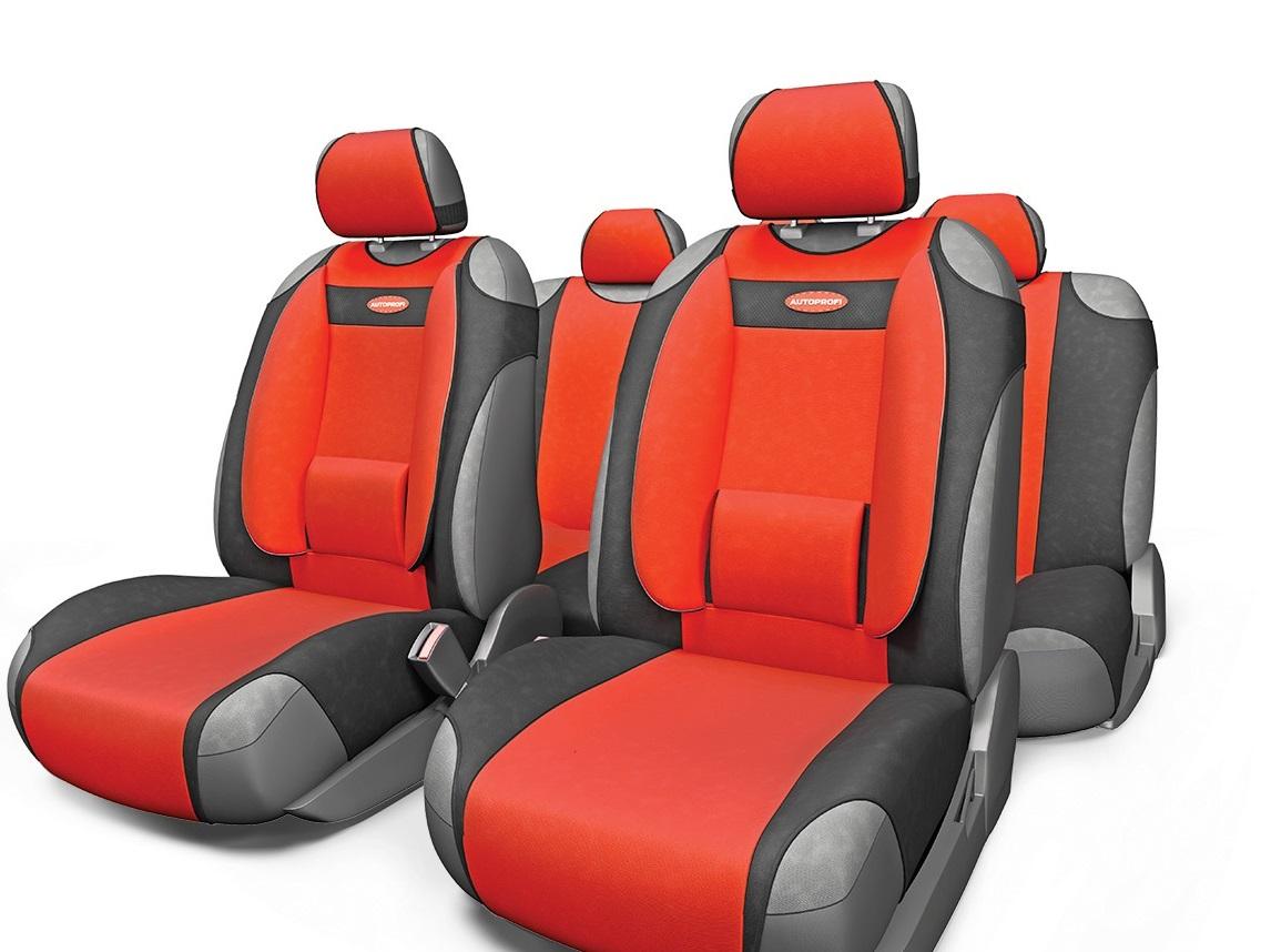 Чехол на сиденье Autoprofi Com-905t bk/rd чехол на сиденье autoprofi gob 1105 gy line m