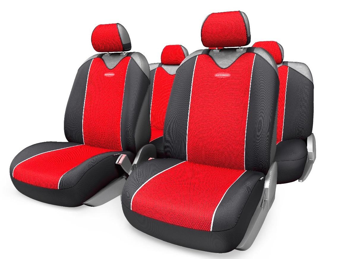 Чехол на сиденье Autoprofi Crb-902p bk/rd комплект чехлов на весь салон autoprofi carbon plus zippers crb 902pz bk gy