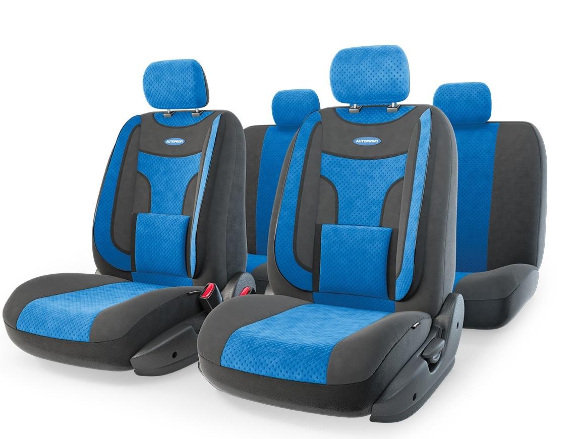 Чехол на сиденье Autoprofi Eco-1105 bk/bl (М) чехол autoprofi extra comfort black dark grey eco 1105 bk d gy m