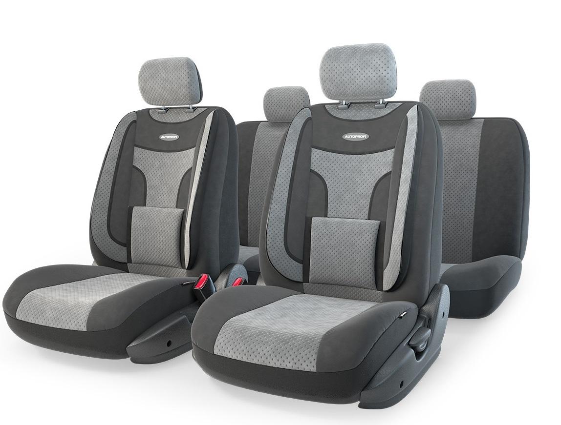 Чехол на сиденье Autoprofi Eco-1105 bk/d.gy (М) чехол autoprofi extra comfort black dark grey eco 1105 bk d gy m