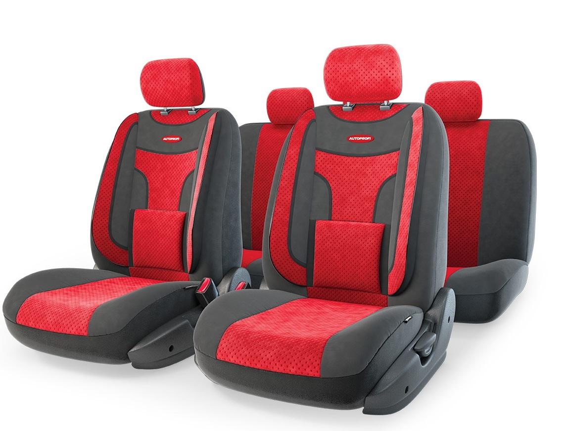 Чехол на сиденье Autoprofi Eco-1105 bk/rd (М) чехол autoprofi extra comfort black dark grey eco 1105 bk d gy m